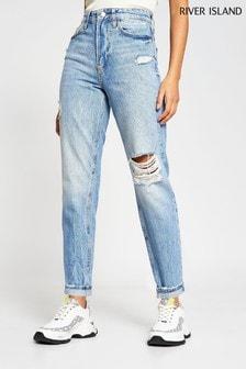 River Island Denim Light Carrie Capri Jeans