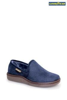 Goodyear Blue Manor Blue Full Slippers