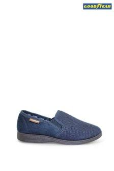Goodyear Blue Mallory Blue Full Slippers
