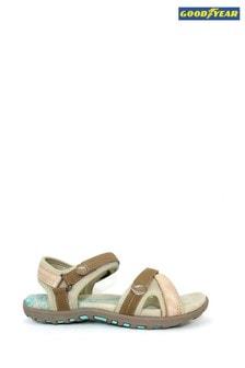 Goodyear Beige Lerma Beige Velcro Sandals