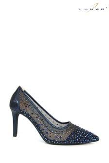 Lunar Blue Argo Blue Mesh Court Shoes