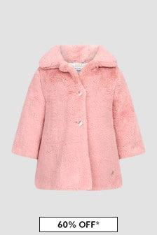 Paz Rodriguez Baby Girls Pink Coat