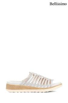 Bellissimo Silver Ladies Mule Sandals