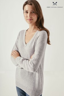 Crew Clothing Company Womens Natural Foxhole V-Neck Jumper