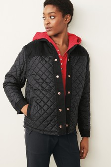 Reversible Quilted Denim Jacket