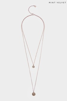 Mint Velvet Gold Tone Layered Pendant Necklace