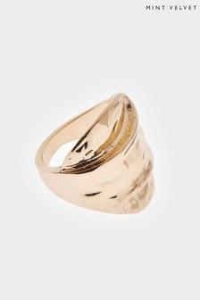 Mint Velvet Gold Tone Statement Ring