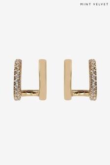 Mint Velvet Gold Plated Double Stud Earrings