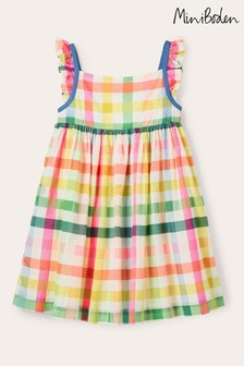 Boden Blue Frill Strap Dress
