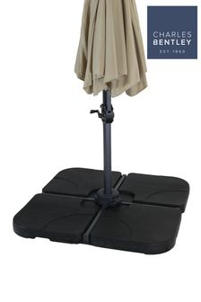 4 Piece Fillable Plastic Parasol Base By Charles Bentley
