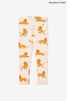Polarn O. Pyret Cream Organic Cotton Disney The Lion King Simba Print Leggings