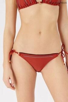 Accessorize Orange Tie Side Bikini Briefs