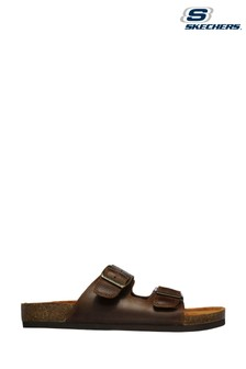 Skechers Brown Krevon Wanson Sandals