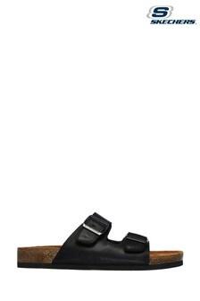 Skechers Black Krevon Wanson Sandals