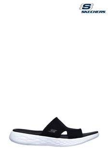 Skechers Black On-The-Go 600 Oceanside Sandals