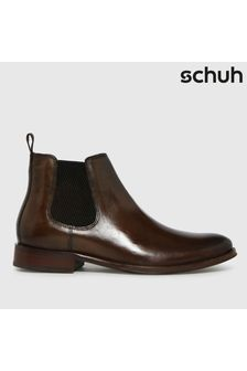 Schuh Brown Damien Leather Chelsea Boots