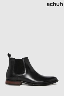 Schuh Black Damien Leather Chelsea Boots
