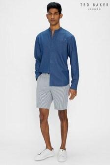 Ted Baker Serum White/Blue Stripe Shorts