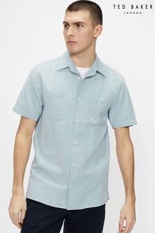 Ted Baker Directa Light Wash Denim Shirt