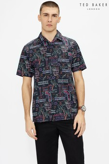 Ted Baker Gravity Retro Print Shirt