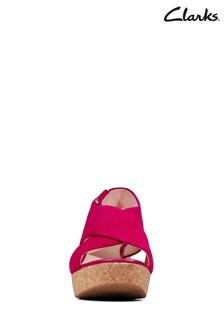 Clarks Fuchsia Suede Maritsa Lara Sandals