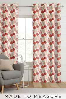 Red Park Life Made To Measure Curtains