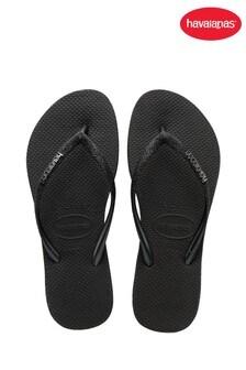 Havaianas Black Slim Sparkle Flip Flops