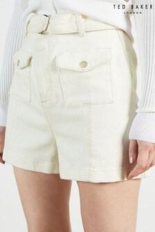 Ted Baker Shortii D-Ring Patch Pocket Denim Shorts