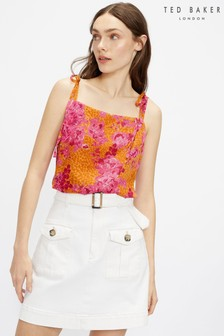 Ted Baker Gweneth Bow Detail Square Neck Cami Top