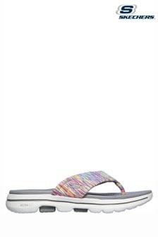 Skechers Grey Go Walk 5 Destined Summer Flip Flops