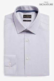 Signature Textured Shirt With Trim Detail