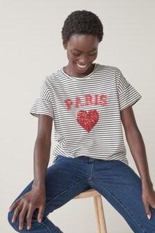 Sequin Heart T-Shirt