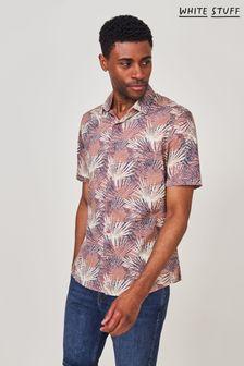 White Stuff Purple Geo Floral Print Shirt