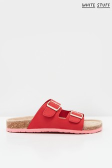 White Stuff Red Isla Footbed Sandals