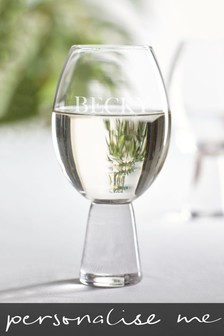 Personalised Aubrie Name Gin Glass