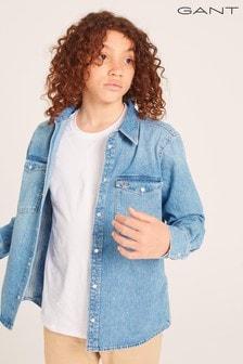 GANT Teen Boys Oversized Denim Shirt