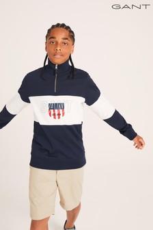 GANT Teen Boys Sporty Shield Half Zip Jumper