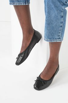 Signature Forever Comfort® Ruched Ballerina Shoes