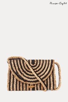 Phase Eight Black Claudia Cross-Body Stripe Bag