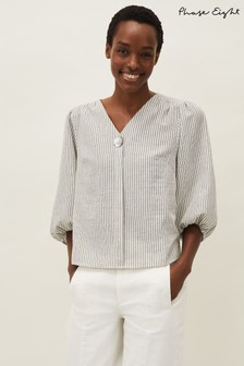 Phase Eight Natural Agnes Stripe Blouse
