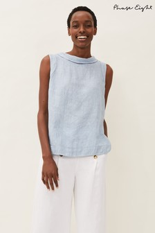 Phase Eight Blue Sky Linen Cami Top