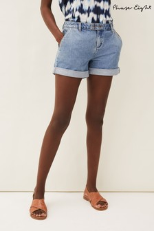 Phase Eight Blue Heidi Denim Shorts