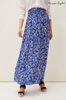 Phase Eight Blue Grace Floral Maxi Skirt