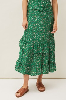 Phase Eight Green Dido Floral Skirt