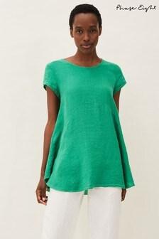 Phase Eight Green Avanna Linen Blouse
