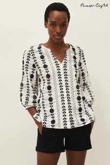 Phase Eight White Caela Broderie Blouse