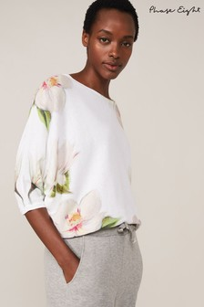 Phase Eight Cream Fenia Floral Knit Top
