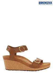 Birkenstock Soley Brown Wedge Sandals