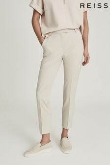 Reiss Cream Joanne Slim Fit Tailored Trousers