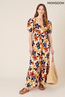 Monsoon Floral Cotton Maxi Dress